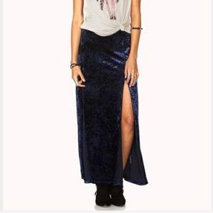 Brand new with tags Forever 21 velvet maxi skirt